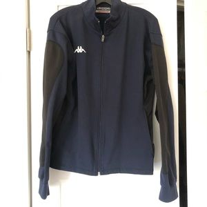Kappa blue and black zip collared jacket